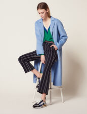 Double-Sided Wool Coat : Coats & Jackets color Sky Blue