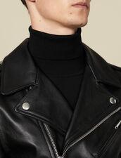 Leather  jacket : Jackets color Black