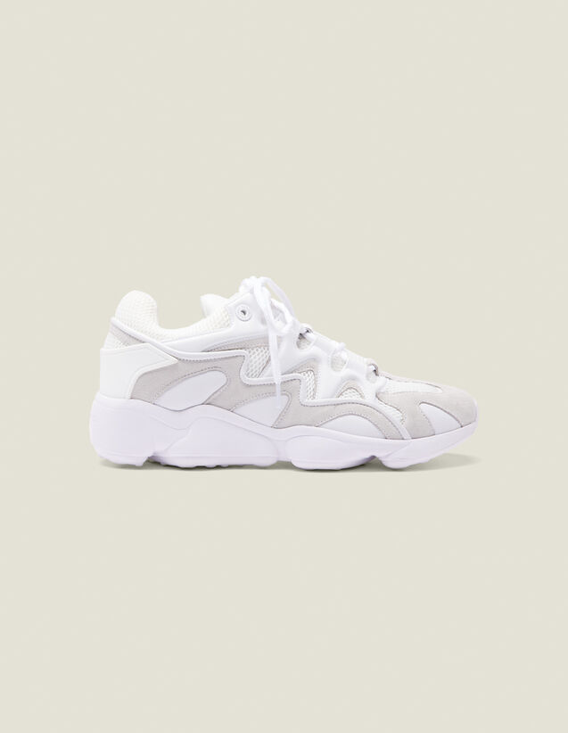 Technical Running Sneakers : Shoes color white