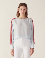 Top With Graphic Braid Trim : Tops & Shirts color Sky Blue