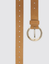 Leather belt : Spring Pre-Collection color Dark Navy