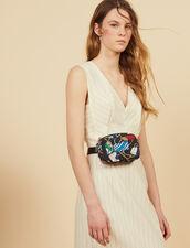 Midi-Length Pinstripe Dress : 50% Off color white