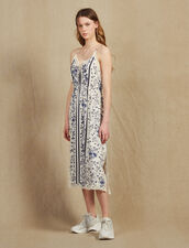 Slip-Style Dress With Narrow Straps : Dresses color Blue