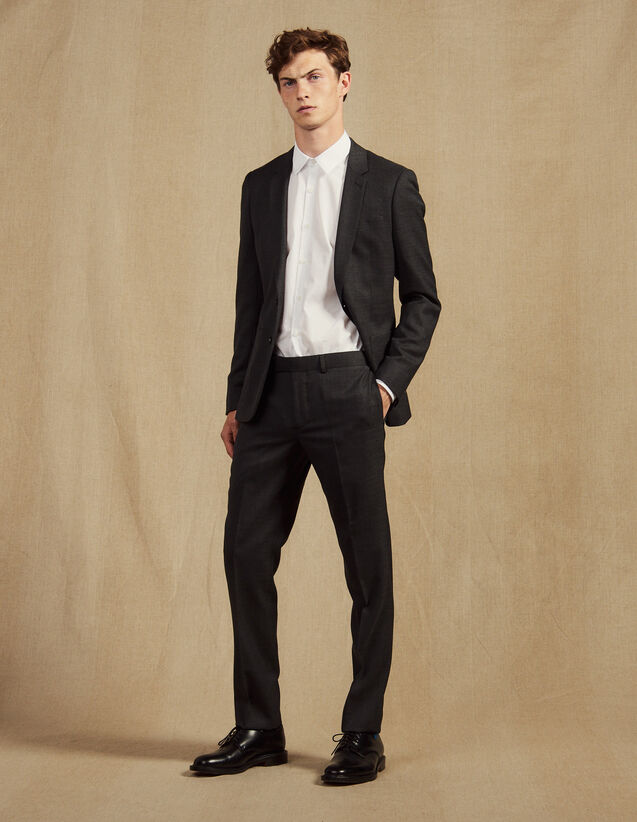 Suit Pants : Essentials color Mocked Grey