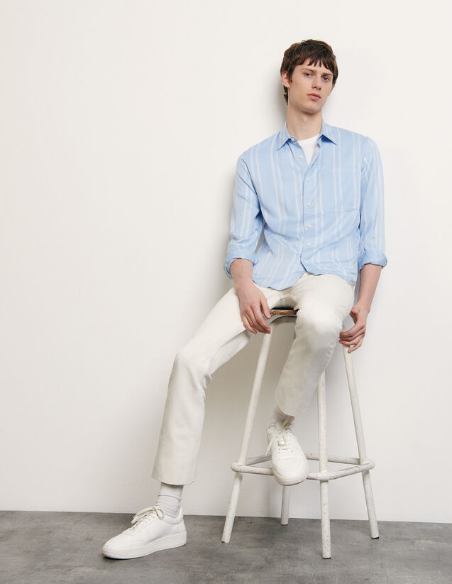 Striped flowing shirt : Spring Pre-Collection color Blue