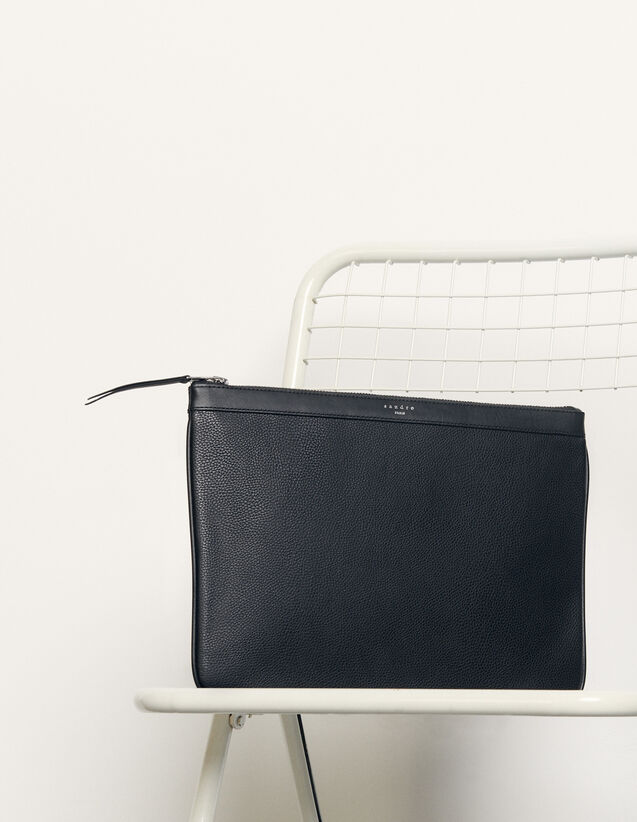 Zipped pouch : Spring Pre-Collection color Black