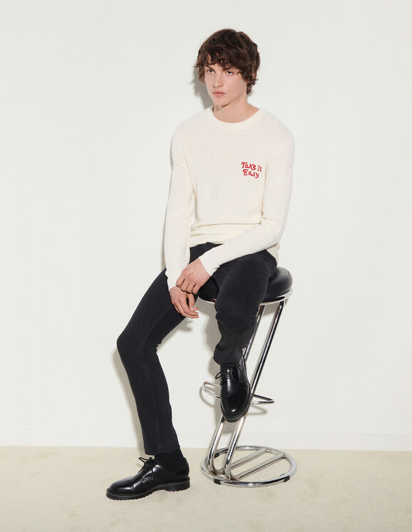 Sandro Wool sweater with embroidery
