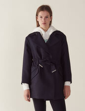 Trench-Style Coat : Coats & Jackets color Navy Blue