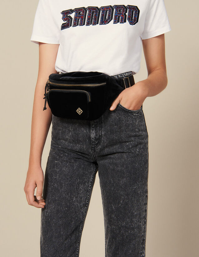 Velvet Fanny Pack : Bags color Black
