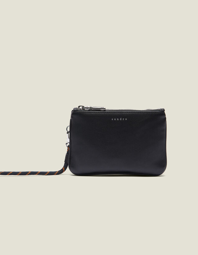 Mini Addict Pouch With Wrist Strap : Small Leather Goods color Black