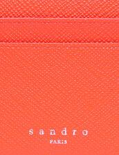 Leather Card Holder : Leather Goods color Orange