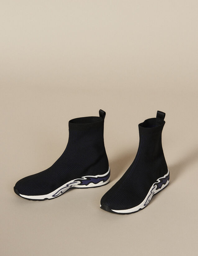 Flame Sock Trainers : New Collection color NOIR/BLEU