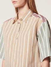 Striped Short-Sleeved Shirt : Tops & Shirts color Multi-Color