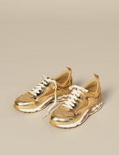 Flame Sneakers : Shoes color Full Gold
