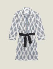 Short Lace Shirt Dress : Dresses color Multi-Color