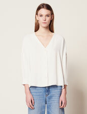 Shirt With Graphic Edging : Tops & Shirts color Ecru