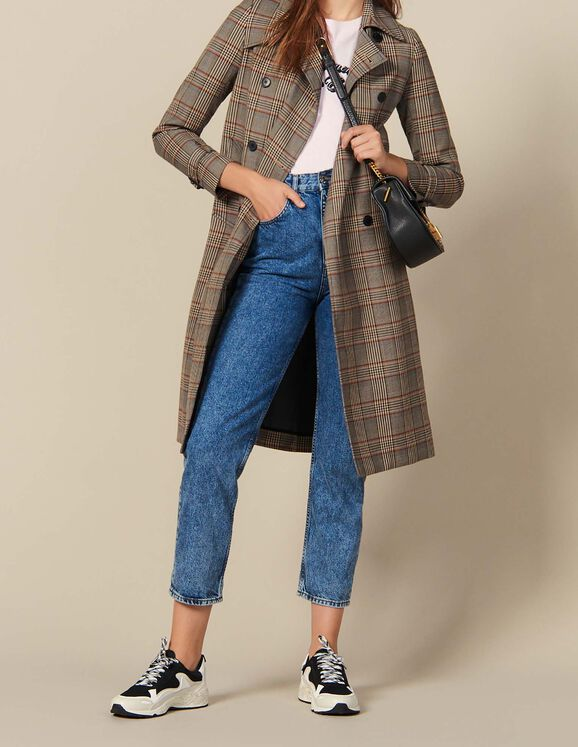 Checked trench coat : Coats & Jackets color Multi-Color