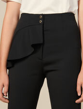 Tapered Trousers With Peplum : Pants & Shorts color Black