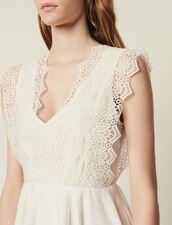 Short Skater Dress : Dresses color white