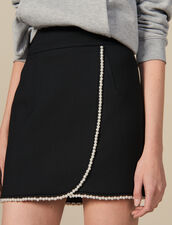 Short Skirt Embellished With Beads : Skirts color Black