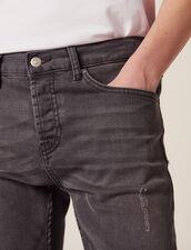 Destroyed Jeans - Skinny Cut : Pants & Jeans color Grey