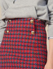 Short tweed skirt : Skirts color Red