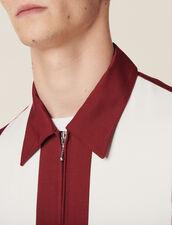 Flowing Zipped Jacket : Coats & Jackets color Bordeaux
