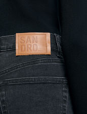 Straight-cut jeans with raw edges : Jeans color Black