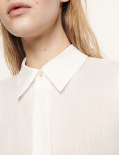 Shirt with removable belt : Tops & Shirts color Ecru