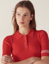 Polo Style Sweater : Sweaters color Orange