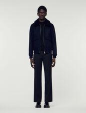 Aviator jacket with sheepskin collar : Jackets color Camel