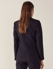 Double-Breasted Jacket : Coats & Jackets color Navy Blue