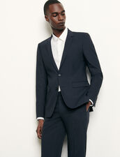Classic wool suit jacket : Suits & Blazers color Navy Blue