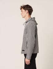 Gingham Jacket : Coats & Jackets color Black