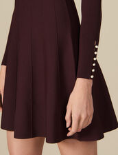 Knit dress with jeweled buttons : Dresses color Brown