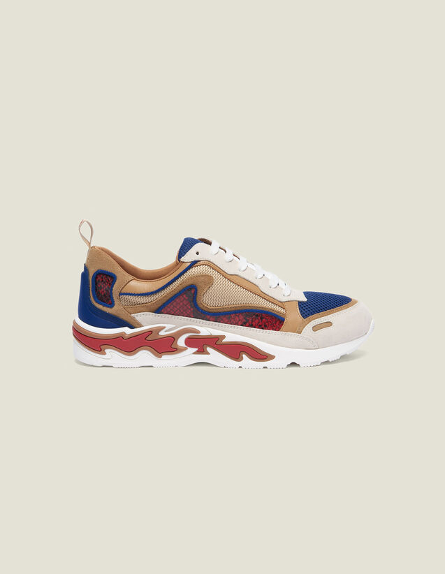 Sneakers With Flames On The Sole : Shoes color Dark Navy