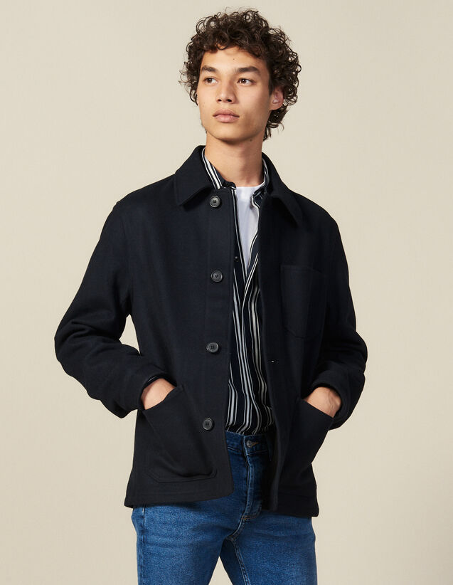 Woolcloth Jacket : Jackets color Navy Blue