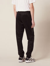 Track Pant Style Jogging Bottoms : Pants & Jeans color Black