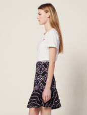 Short Guipure Skirt : Skirts color Black