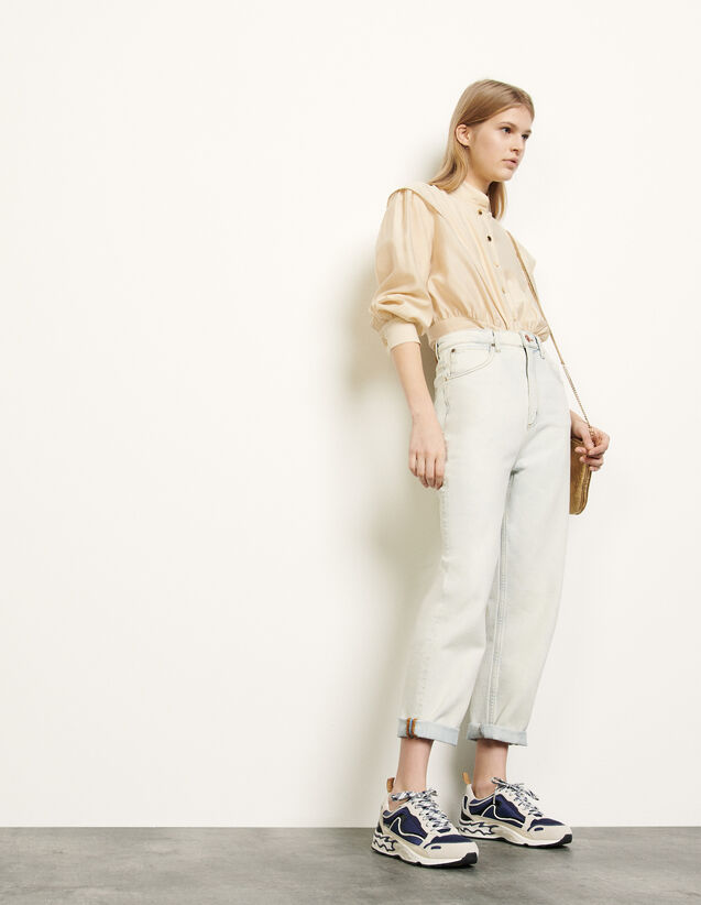 Snow wash jeans : Spring Pre-Collection color Bleached - Denim