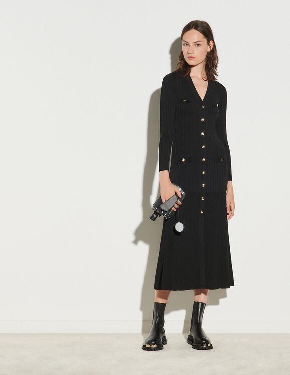 Sandro Long button-up cardigan dress