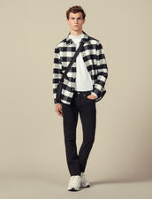 Checked Wool Shirt Jacket : Jackets color Black/White