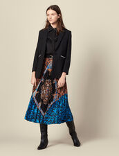 Long printed skirt with pleats : Skirts color Multi-Color