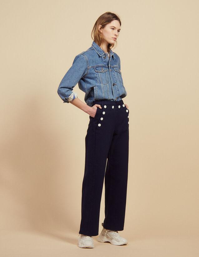 Sailor Trousers : Pants & Shorts color Navy Blue