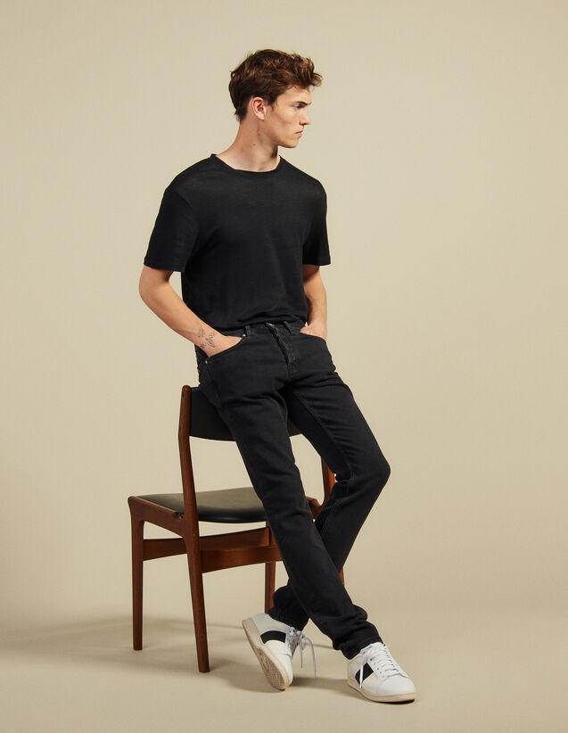 Black jeans - Skinny cut : Jeans color Black