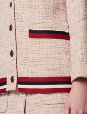 Tweed Cardigan-Jacket : Coats & Jackets color Pink