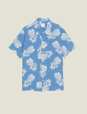 Hawaiian Printed Shirt : Shirts color Black
