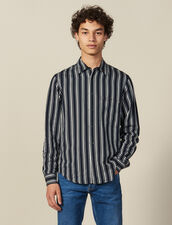 Striped Flowing Shirt : Shirts color Navy Blue