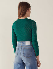 Long-Sleeved Decorative Sweater : Sweaters color Green