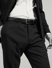 Saffiano leather belt : Belts & Ties color Black